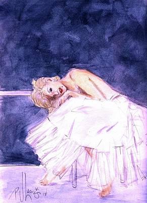 Painting - Marilyn's Ballerina Sittings by PJ Lewis