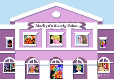 Painting - Marilyn's Beauty Salon by Candace Lovely