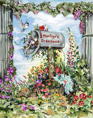 Marilyn's Greenhouse Art Print