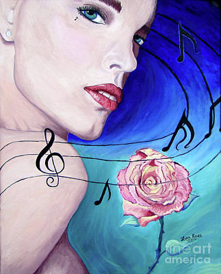 Painting - Marilyns Music In The Wind by Lisa Rose Musselwhite