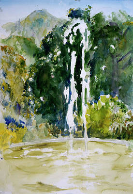 Painting - Marin Art And Garden Center Fountain by Tom Simmons