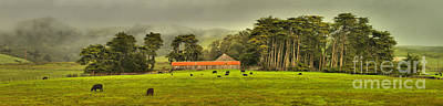 Photograph - Marin County Farm Panorama by Adam Jewell