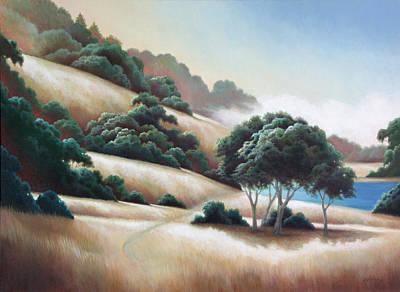 Painting - Marin Hike by Charle Hazlehurst