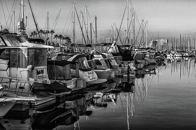 Photograph - Marina 3 Bw by Robert Hebert