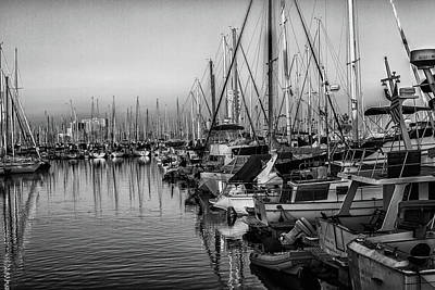 Photograph - Marina 4 Bw by Robert Hebert