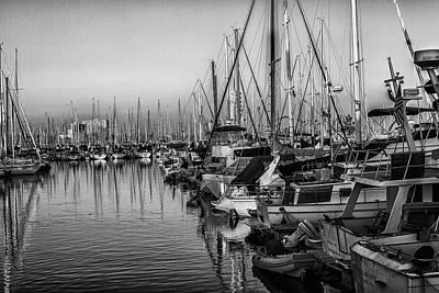 Photograph - Marina 4 Bw by Robert Hebert