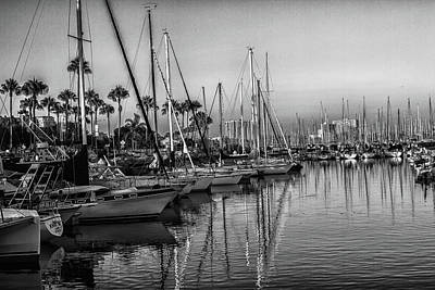 Photograph - Marina 5 Bw by Robert Hebert