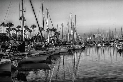 Photograph - Marina 5 Bw by Robert Hebert