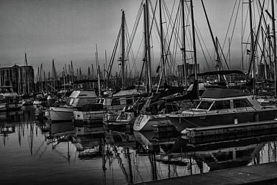 Photograph - Marina 6 Bw by Robert Hebert