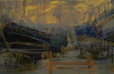 Mixed Media - Marina Abstract II by Jim Vance