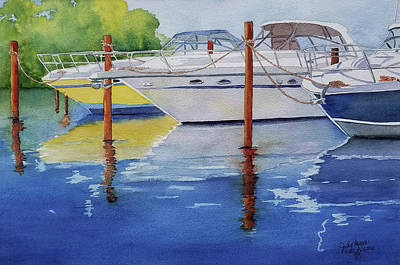 Painting - Marina Afternoon by Judy Mercer