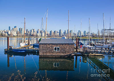 Photograph - Marina And The Vancouver Skyline by Chris Dutton