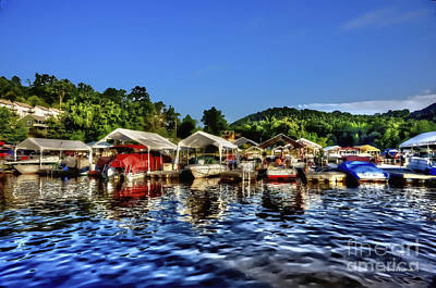 Marina At Cheat Lake Clear Day Art Print