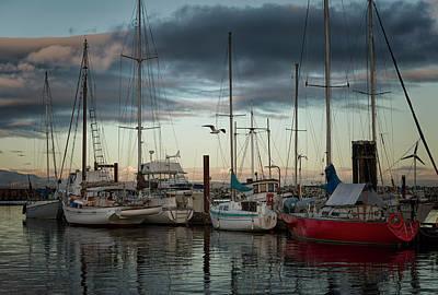 Photograph - Marina At Dusk 3 by Randy Hall