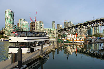 Photograph - Marina At Granville Island In Vancouver Bc by David Gn