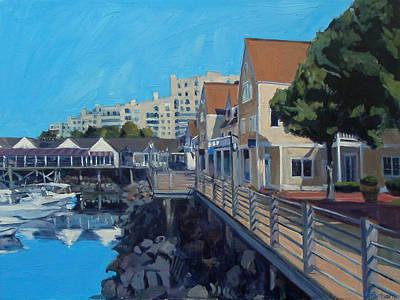Boston Painting - Marina Bay by Deb Putnam