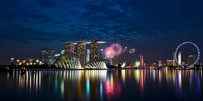 Marina Bay In Panorama Art Print