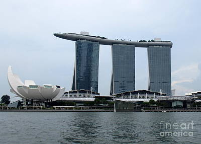 Photograph - Marina Bay Sands 12 by Randall Weidner