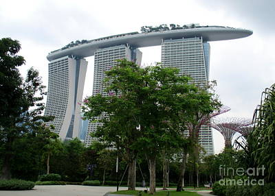Photograph - Marina Bay Sands 18 by Randall Weidner