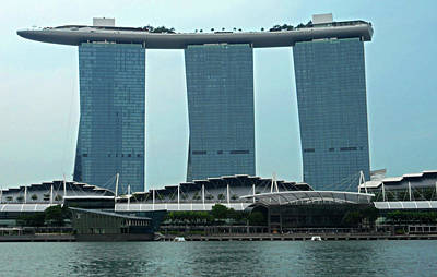 Photograph - Marina Bay Sands 4 by Ron Kandt