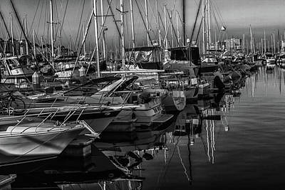 Photograph - Marina Bw by Robert Hebert