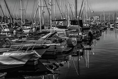 Photograph - Marina Bw by Robert Hebert