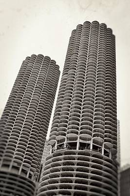 Photograph - Marina City - Chicago by Michelle Calkins