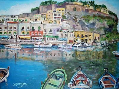 Lipari Painting - Marina Corta In Lipari by Teresa Dominici