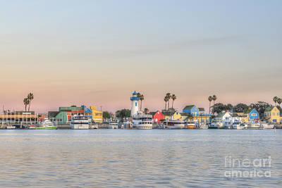 Photograph - Marina Del Rey Fishermans Village by David Zanzinger