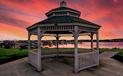 Photograph - Marina Gazebo Sunset by Rick Lawler