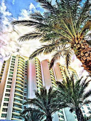 Photograph - Marina Grande Through Majestic Palms by Alice Gipson