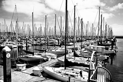 Marina In Black And White Art Print by Sean Gillespie