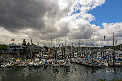 Photograph - Marina In Olympia Washington Waterfront by David Gn