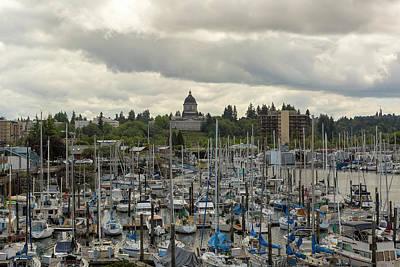 Photograph - Marina In Olympia Washington Waterfront Moorage by David Gn