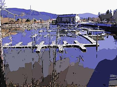 Sandpoint Digital Art - Marina In Spring by Robert Bissett