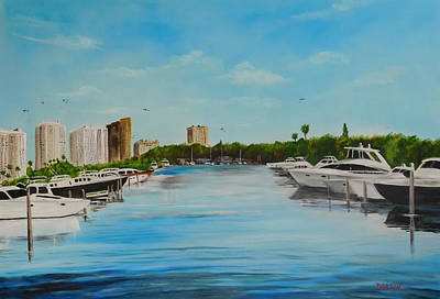 Painting - Marina Jack's Sarasota Florida by Lloyd Dobson