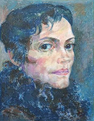 Oil Pastel Painting - Marina by Leonid Petrushin