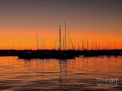 Photograph - Marina Moonlight Masts by Shelia Kempf