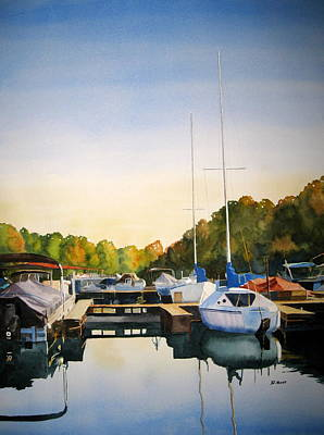 Marina Morning Art Print