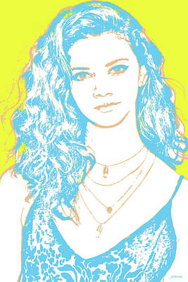 Digital Art Rights Managed Images - Marina Nery Pop Art Royalty-Free Image by Greg Joens