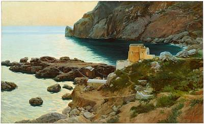River Painting - Marina Piccola Of Capri Andrade Blazquez Angel by Artistic Rifki