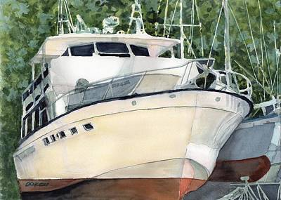 Painting - Marina Queen by Dick Dee