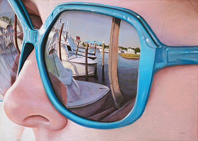 Pastel - Marina Reflection by Christopher Reid