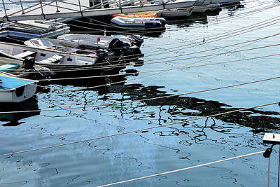 Photograph - Marina Reflections, Rockport Marine Park, Maine by Marilyn Burton