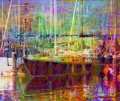 Yacht Mixed Media - Marina Sunlight by Josie Duff