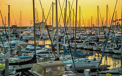 Art Print featuring the photograph Marina Sunset by April Reppucci