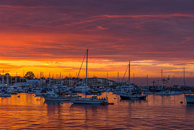 Photograph - Marina Sunset by Derek Dean