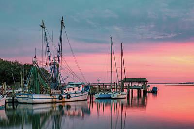 Shem Creek Photograph - Marina Sunset by Drew Castelhano