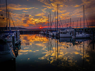 Photograph - Marina Sunset by Mark Dunton