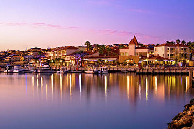 Print featuring the photograph Marina Sunset, Mindarie by Dave Catley